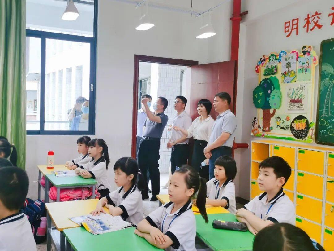 省教育厅专家组莅临金晖小学开展儿童青少年近视防控调研工作