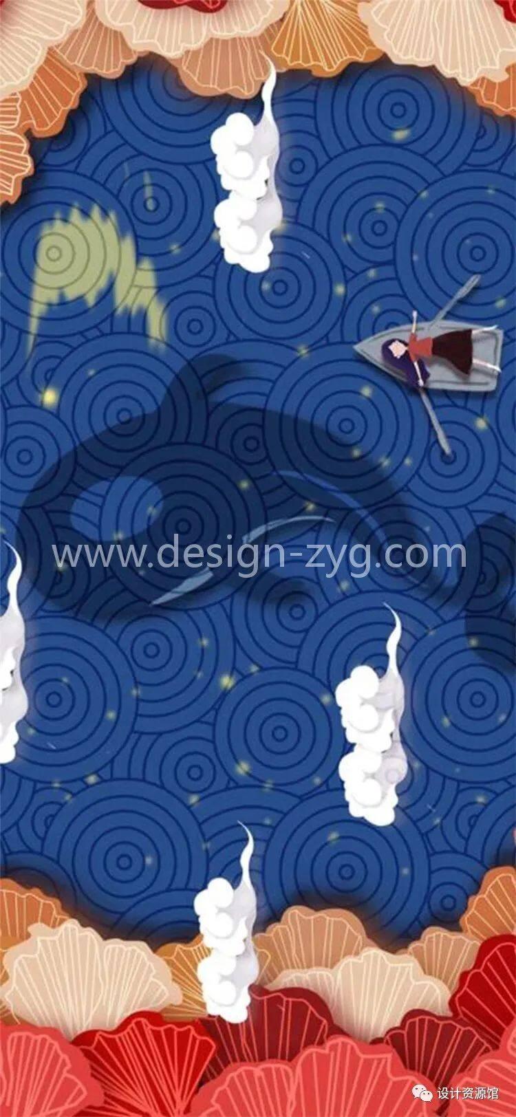 中国风合集 中国传统纹样锦集+中国风精美潮流插画+精美纸质纹理素材【712期】插图12