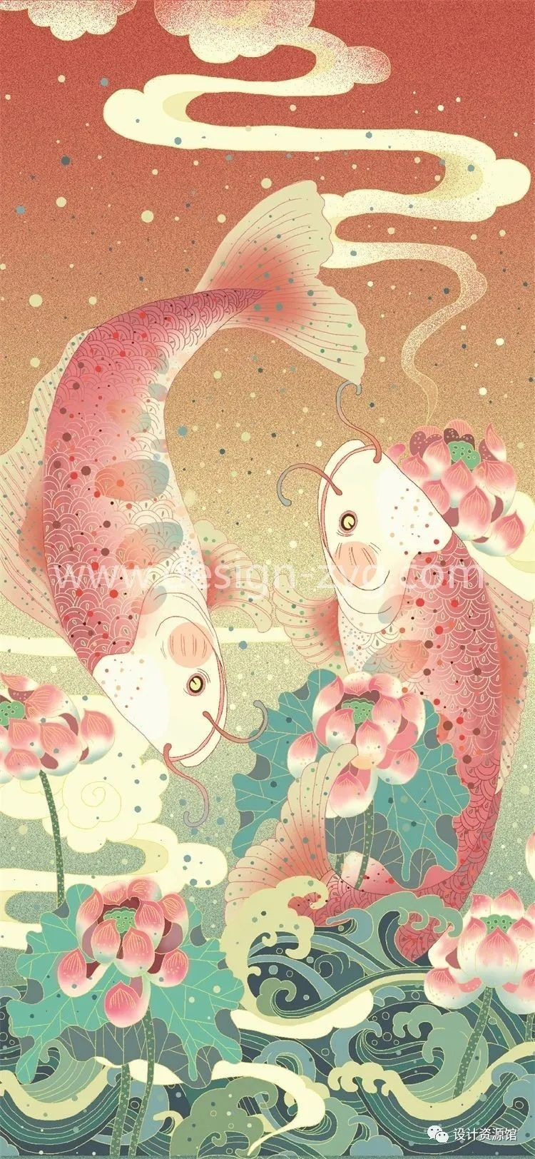 中国风合集 中国传统纹样锦集+中国风精美潮流插画+精美纸质纹理素材【712期】插图11