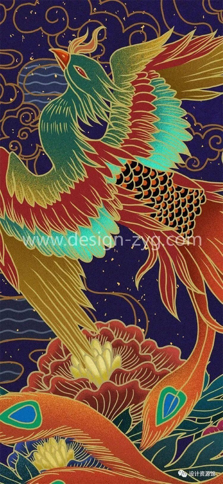 中国风合集 中国传统纹样锦集+中国风精美潮流插画+精美纸质纹理素材【712期】插图20