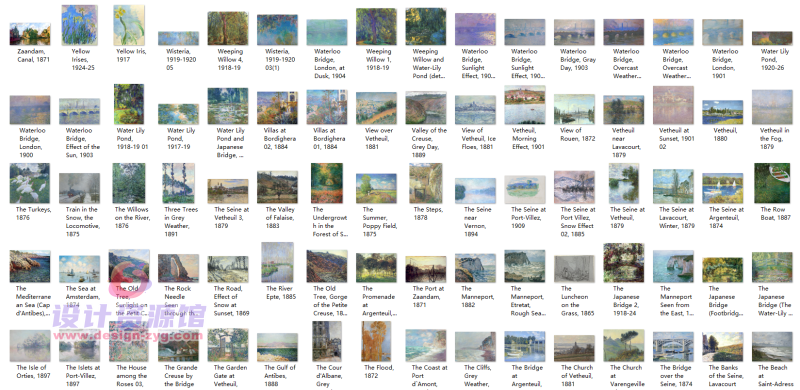 莫奈油画全集1573幅|一幅《干草堆》拍卖了6亿,他的画究竟有多厉害【714期】插图18