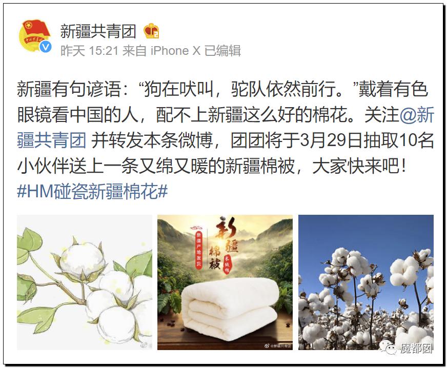禁用新疆棉花,干涩中国内政,HM、优衣库、ZARA、耐克、阿迪达斯等引公愤52