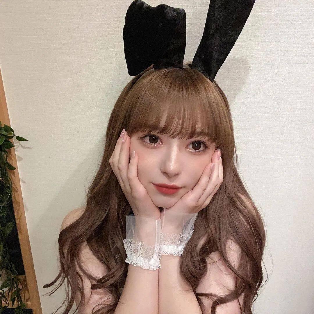 岛国混血甜美少女,兔女郎造型绝了13