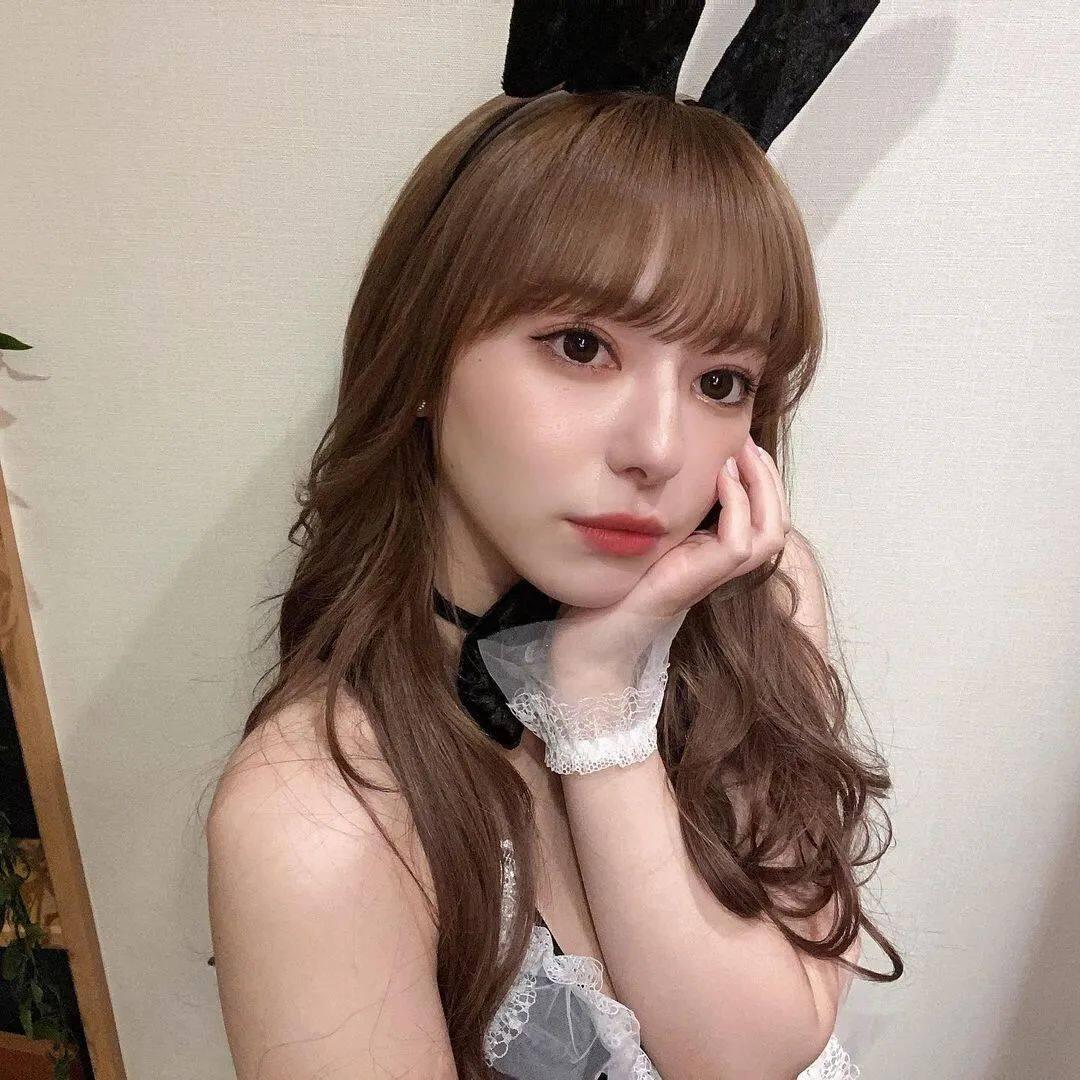 岛国混血甜美少女,兔女郎造型绝了12